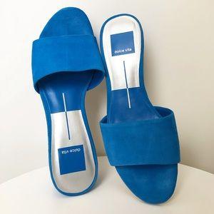 Dolce Vita suede slide sandals